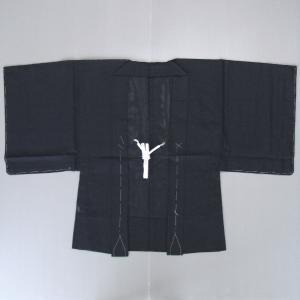 黒羽織(綿絽) 夏の着物や浴衣に最適な駒絽羽織 盛夏用黒無地はおり メンズ/レディース兼用 洗える黒羽織 ※サイズ調整可能|kameya