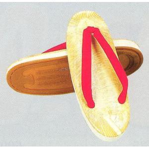 アメ底草履(赤鼻緒・ビニール表・スポンジクッション入り) 祭り雪駄 ぞうり 着物 浴衣 作務衣 甚平用草履 踊り草履 女性用草履 和風サンダル 祭り用品|kameya