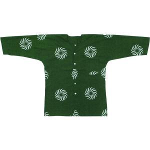 鯉口シャツ 祭り ダボシャツ メンズ レディース 深緑 獅子毛 獅子舞 大道芸 鯉口シャツ 祭り用品|kameya