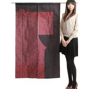 のれん 和風 おしゃれ 暖簾 間仕切り きものれん ロング 87×150cm 桜|kameya