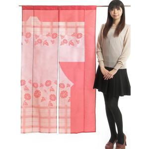 のれん 和風 おしゃれ 暖簾 間仕切り きものれん ロング 87×150cm 朝顔|kameya