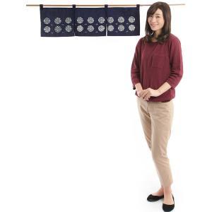 のれん おしゃれ カウンター 暖簾 和風 のれん ショート 85×25cm 百合|kameya