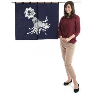 暖簾(幅85cm×丈75cm・ドア用・纏) 間仕切りのれん ブラインド暖簾|kameya