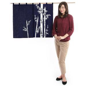 ドア暖簾(幅85cm×丈75cm・笹竹) 間仕切りのれん ブラインド暖簾|kameya