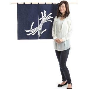 暖簾(幅85cm×丈75cm・ドア用・暴れ熨斗) 間仕切りのれん ブラインド暖簾|kameya