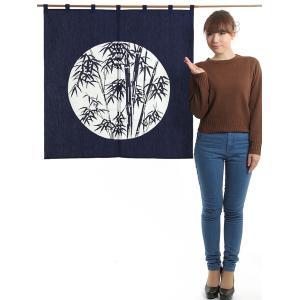 ドア暖簾(幅85cm×丈90cm・笹) 間仕切りのれん ブラインド暖簾|kameya