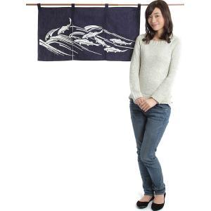 のれん おしゃれ カウンター 暖簾 和風 のれん ショート 85×45cm 鮎|kameya