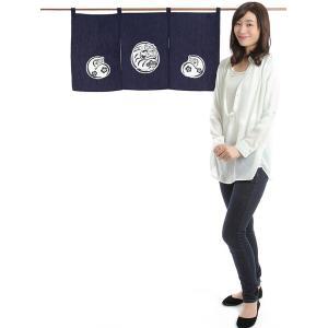 カウンター暖簾(幅85cm×丈45cm・達磨) ドアのれん ショート丈暖簾|kameya
