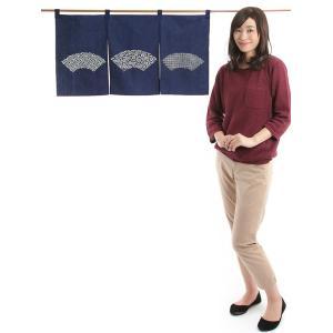 カウンター暖簾(幅85cm×丈45cm・扇面) ドアのれん ショート丈暖簾|kameya