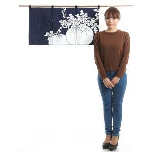 カウンター暖簾(幅85cm×丈45cm・トマト) ドアのれん ショート丈暖簾|kameya