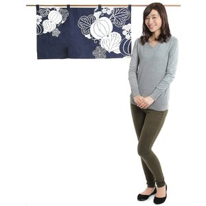 のれん おしゃれ カウンター 暖簾 和風 のれん ショート 85×45cm カボチャ|kameya