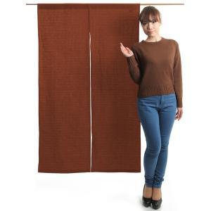 のれん 和風 おしゃれ 暖簾 間仕切り 無地 のれん ロング 90×150cm エンジ 変り織り|kameya