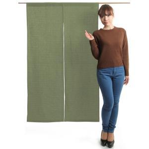 のれん 和風 おしゃれ 暖簾 間仕切り 無地 のれん ロング 90×150cm 利休鼠 変り織り|kameya