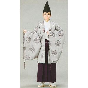格衣(納期約45日・男女兼用・グレー・鳳凰・ボタン) 神職用衣装 神主用衣裳 舞台/ステージ衣装 礼典装束 kameya