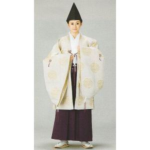 格衣(納期約45日・男女兼用・クリーム・鳳凰・ボタン) 神職用衣装 神主用衣裳 舞台/ステージ衣装 礼典装束 kameya