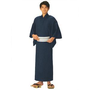 男物無地着物(紺/単衣仕立上り/夏用) メンズ着物 男の和装 色無地プレタ着物|kameya
