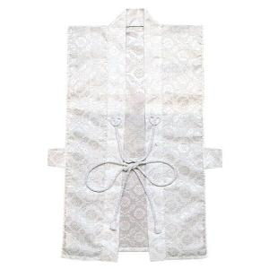 神前用羽織(白地紋入り) 簡易小忌衣 神社仏閣の例大祭の衣装 参拝者用羽織  [npd-5446]|kameya