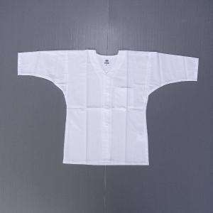 子供鯉口シャツ 祭り 子供用 祭シャツ ダボシャツ キッズ ジュニア 高級さらし 白 祭り用品|kameya