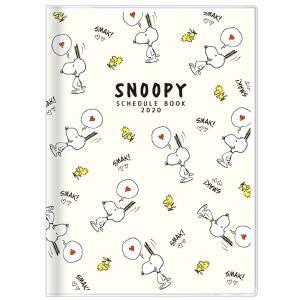 2020年手帳マンスリー(月間・19年10月始)A6スヌーピー[Snoopy]PEANUTSチラシ(...