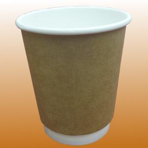 二重耐熱紙コップ「クラフトBMT」 8オンス 280ml 100個|kami-plaza