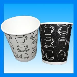 発泡耐熱紙コップ「カフェモダンN」 8オンス 250ml 2色アソート(白/黒)計50個|kami-plaza