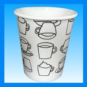 発泡耐熱紙コップ「カフェモダンN」 8オンス 250ml 2色アソート(白/黒)計50個|kami-plaza|02