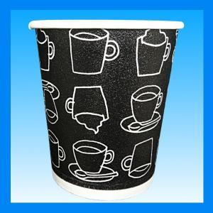 発泡耐熱紙コップ「カフェモダンN」 8オンス 250ml 2色アソート(白/黒)計50個|kami-plaza|03