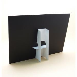 紙スタンドA3縦用シール付 バラ売り(パネルスタンド・紙足)|kami-plaza