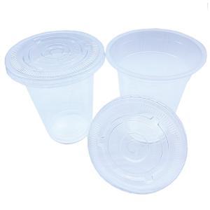 蓋付き透明プラスチックカップ12オンス 2000セット(業務用使い捨て容器) kami-plaza
