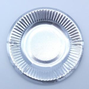 まとめ買い おしゃれな紙皿シルバー4号(4800枚/箱) パーティ用に 使い捨て紙皿|kami-plaza