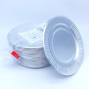 おしゃれな紙皿シルバー6号 100枚 (小さめ15cm) パーティ用に 使い捨て紙皿|kami-plaza