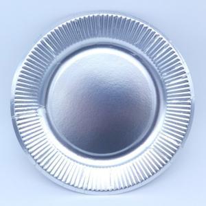 おしゃれな紙皿シルバー7号 100枚 (使いやすい18cm) パーティ用に 使い捨て紙皿|kami-plaza