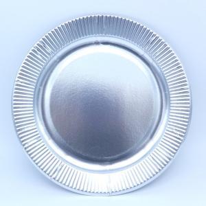 おしゃれな紙皿シルバー9号 100枚 (大きい23cm) パーティ用に 使い捨て紙皿|kami-plaza