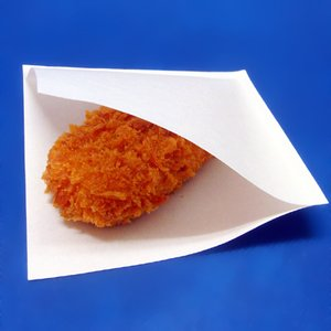 コロッケ袋100枚 さくさく感が持続!耐油性・透気性・透湿性に優れた食品用機能紙袋|kami-plaza