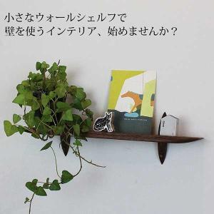壁掛け棚 おしゃれな壁棚 石膏ボード壁専用40ウォールナット ピンで固定 コンパクト|kamidana56