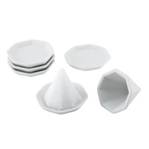 八角盛塩セット 小 盛り塩セット /八角皿5枚付き  ポイント消化