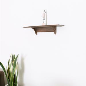 神棚 モダン 洋風神棚板 Kurumi grande ウォールナット製 幅広バージョン|kamidana