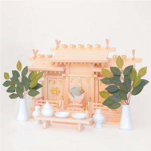 神棚セット 屋根違い三社 なごみ(中)神棚セット|kamidana