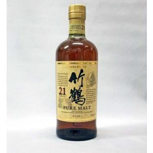 ニッカウヰスキー竹鶴21年ピュアモルト43%700ml×1本|kamigataichiba