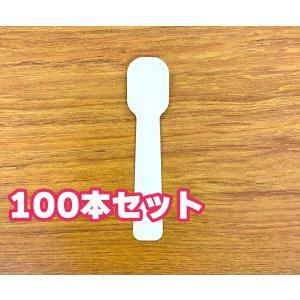 紙スプーン 個包装 100本 25mm×110mm 日本製 使い捨て kamihiro-rakuraku