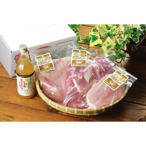 青森シャモロック 正肉セット スープ付き kamikitanousan