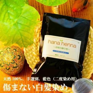 ヘナ ハナヘナ hana henna インディゴ 100g 白髪染め 藍色 口コミ kaminoya-kanno