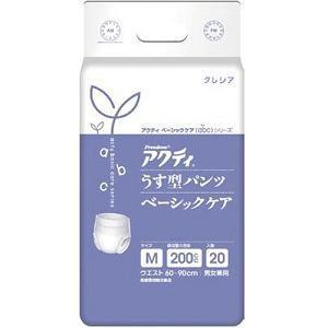 アクティ うす型パンツベーシックケア M 20枚|kamiomutu