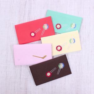 懐紙入れ:両面刺繍 【花かんざし】|kamishichikenadachi