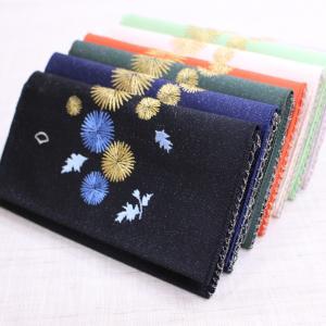 懐紙入れ:両面刺繍 【あざみ】|kamishichikenadachi