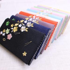 懐紙入れ:両面刺繍 【花づくし】|kamishichikenadachi
