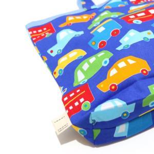 大容量でもかさばらない!A3サイズの手提げ・レッスンバッグ (日本製コットン・TOY CARS)Made in Japan|kamitonuno|05