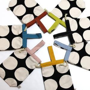 色・柄をカスタマイズ!ドット柄帆布のシューズケース、上履き入れ、持ち手つき巾着袋 Made in Japan|kamitonuno