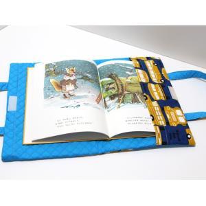 福岡の小学校図書専用バッグ バッグ型ブックカバー ★国産生地のスクールバス|kamitonuno|02