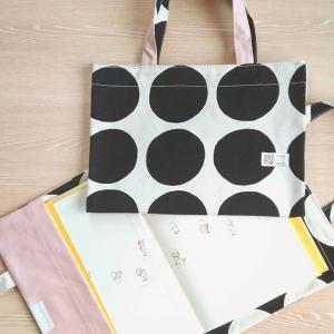 ドット柄帆布のバッグ型ブックカバー(タイプ4:シンプレスト)|kamitonuno